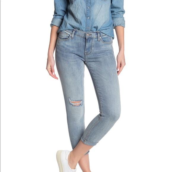 Hudson Harkin Crop Super Skinny Jeans